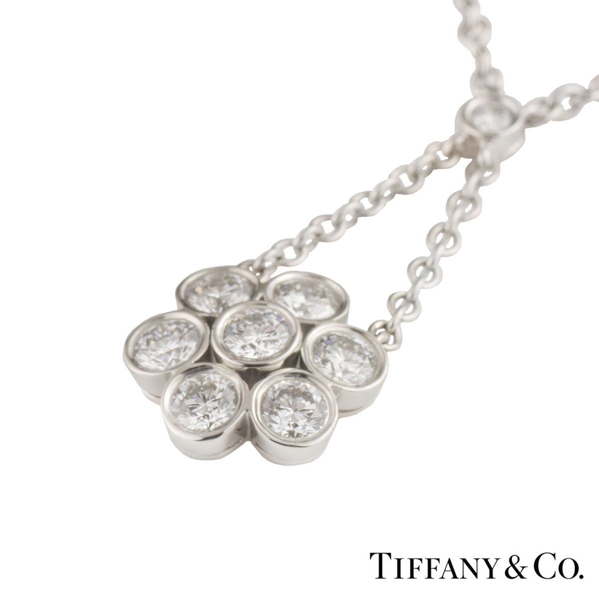 Tiffany & Co. Diamond Platinum Enchant Pendant